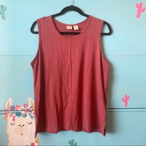 Lucy and Laurel Burgundy Tank Size Large